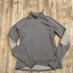 Mondetta gray athletic pullover elbow patches